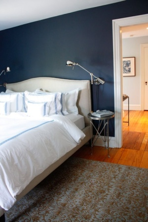 navy wall -- apartment therapy