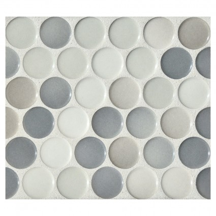 tile -- penny round granite blend gloss