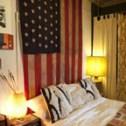 flag -- as headboard