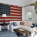 flag -- living room with white furn