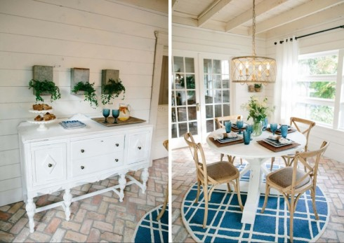 fixer upper bean house dining area buffet