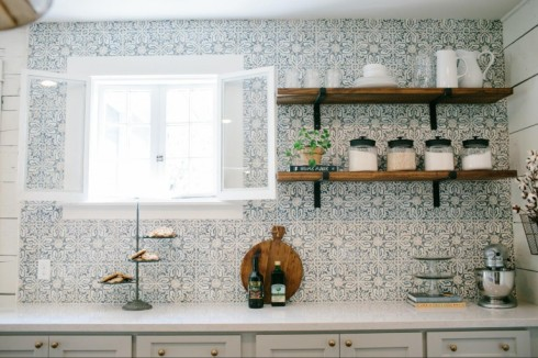 fixer upper bean house kitchen tiles