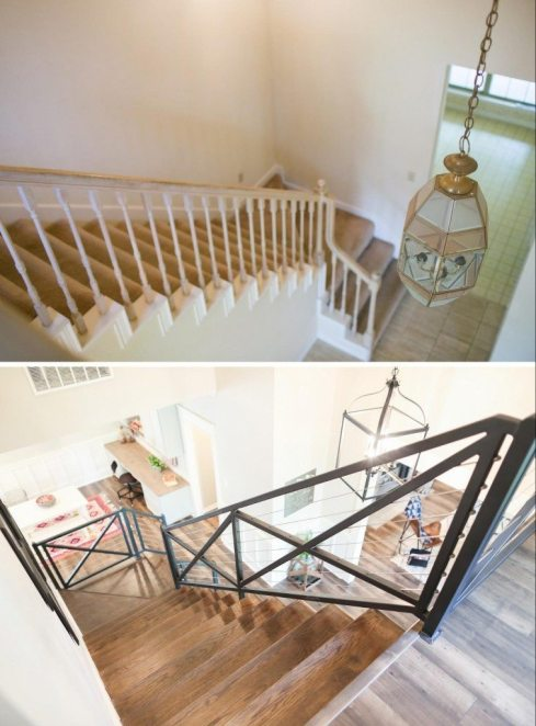 fixer upper stairs from upstairs