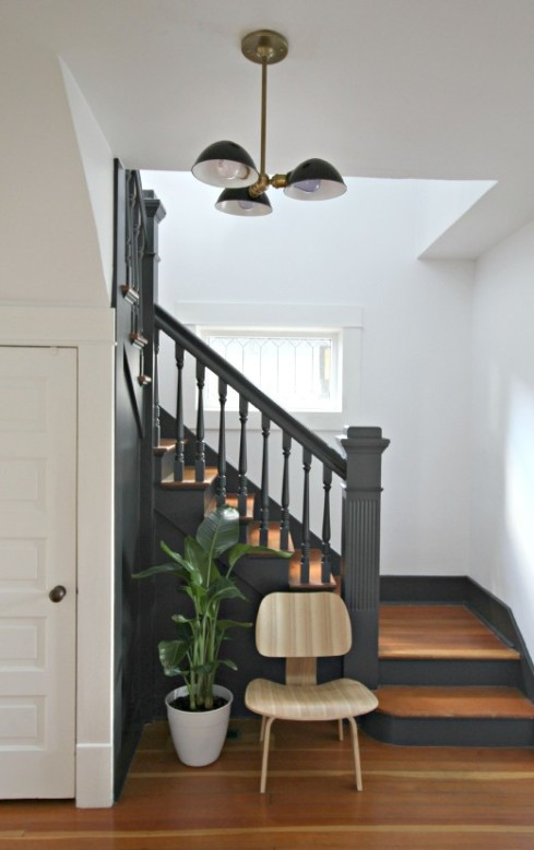 gray staircase simply grove