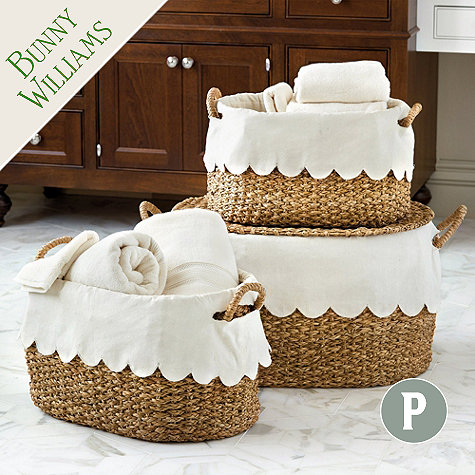 scallop basket liner hem bunny williams ballard design