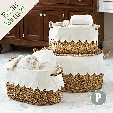 scallop basket liner hem bunny williams ballard design