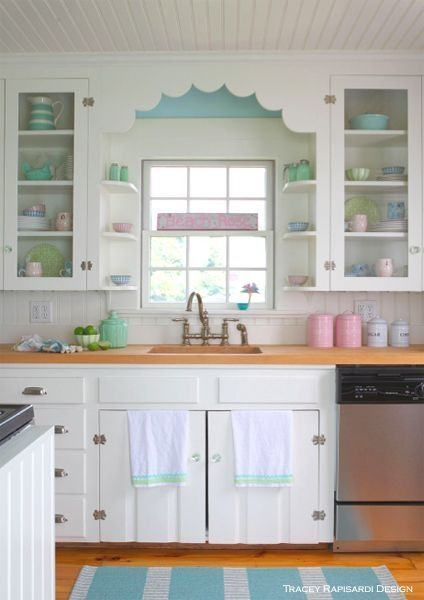 scallops above kitchen thebudgetdecorator