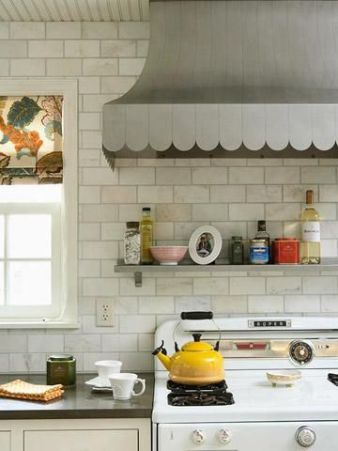 scallops on metal range hood midwest living