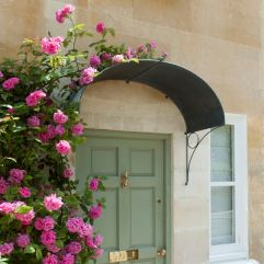 awning big round circle wth roses