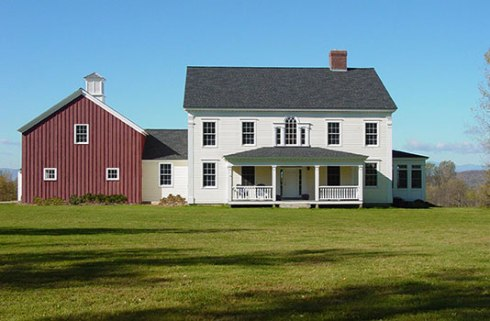 TOH -- house with red barn attached