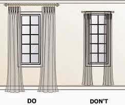 curtain hung high do and don't
