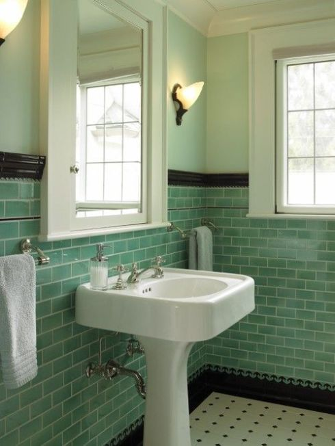 tile-vintage-green-and-black-houzz