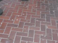 brick sidewalk red herringbone
