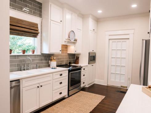hometown -- house kitchen after looking at door