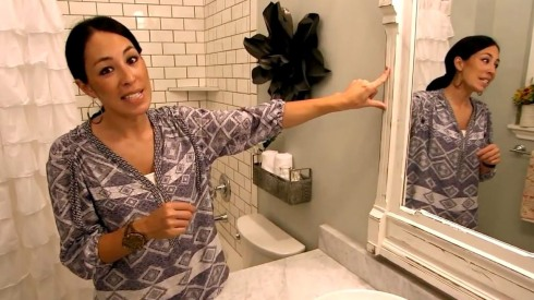 bathroom of fixer upper shower