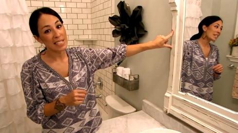 bathroom of fixer upper shower