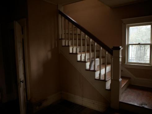 bungalow staircase before
