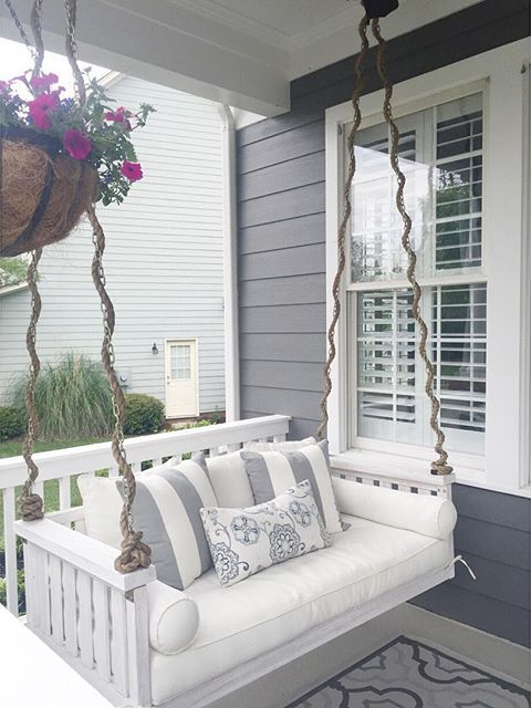 porch swing with rope