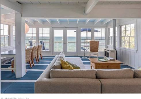 maine house living room looking to the sea