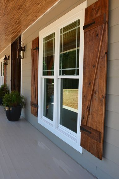 wood exterior shutters