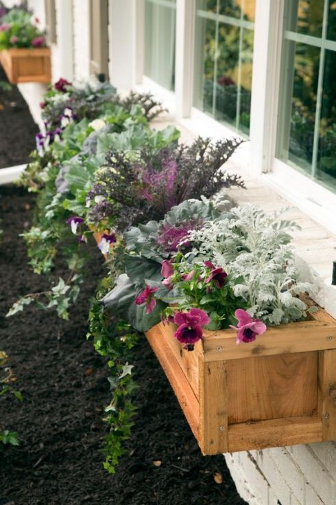 wood exterior window boxes