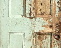 door of shabby white half naughty
