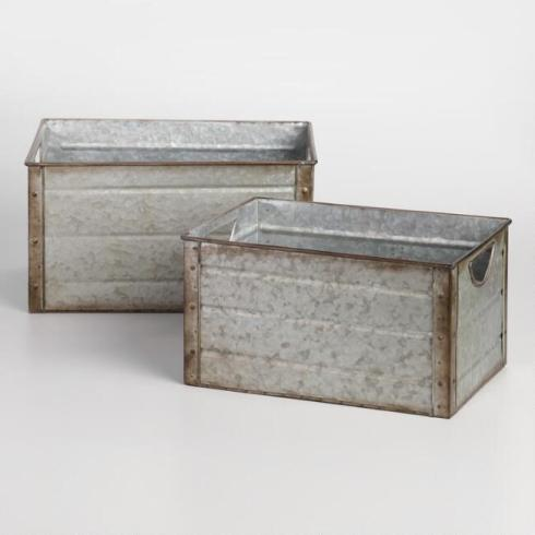 world market galvanized metal storage bins