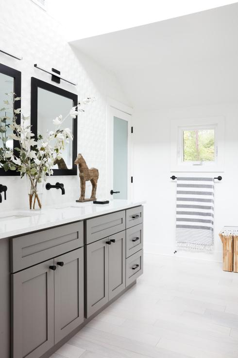 DH bathroom after with gray vanity