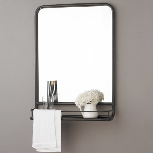 mirror of black with shelf