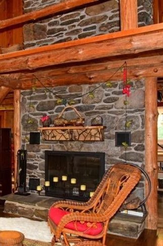 berk cabin fireplace