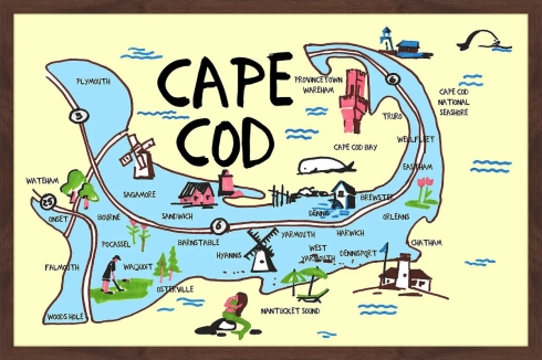 cape cod cartoon map