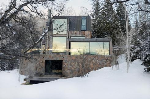 cabins in winter -- colorado exterior