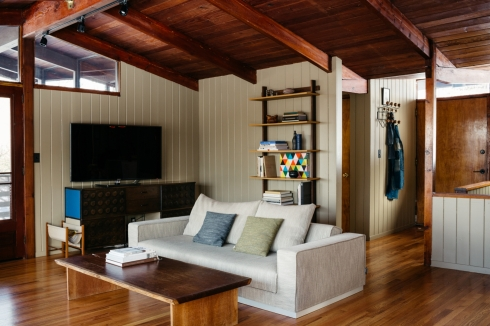 cabins in winter -- new york state interior