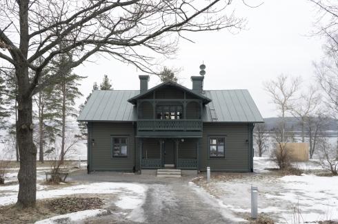 cabins in winter -- swedish exterior