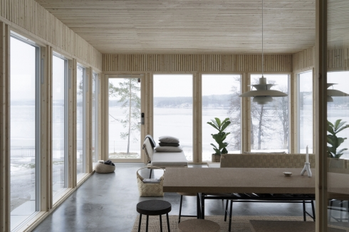 cabins in winter -- swedish interior