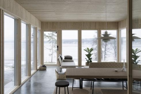 cabins in winter -- swedish interior