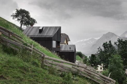 cabins in winter -- switzerland exterior
