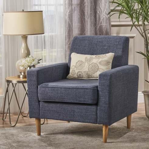 chair of blue without ottoman