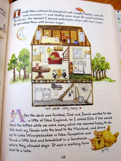 susan branch book page with house diagram