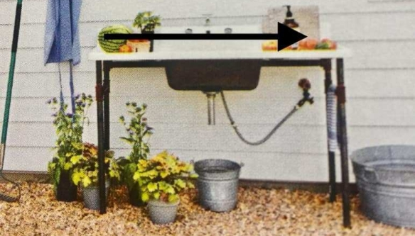 Lakewood 3 Person Swing, Outdoor Sink Potting Table Redbird