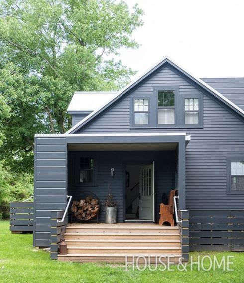 cape cod of black really modern